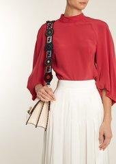 fa9a5221411b ... Fendi Strap You logo and flower-print velvet bag strap ...