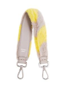 Fendi Strap You mini striped fur bag strap