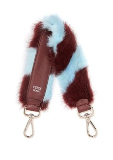 Fendi Strap You mini striped fur bag strap