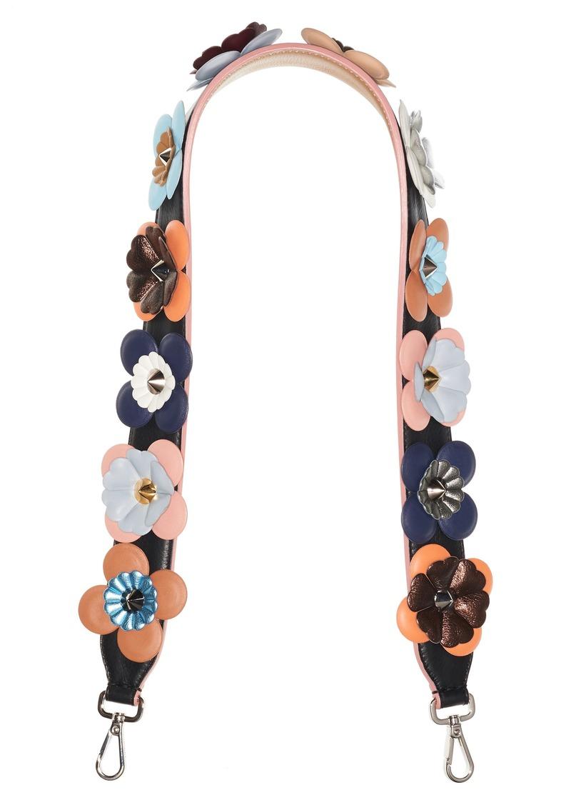 c7e47d4ddc84 Fendi Fendi Strap You Multi Flower Leather Guitar Bag Strap