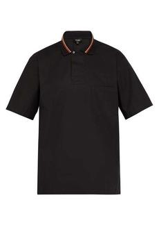 Fendi Striped cotton-poplin polo shirt