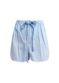 Fendi Striped cotton-poplin shorts