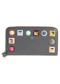 Fendi Studded Calfskin Wallet