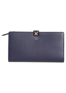 Fendi Studded Continental Leather Wallet