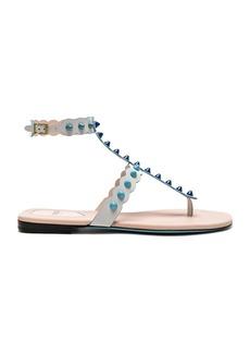 Fendi Studded Leather Gladiator Sandals