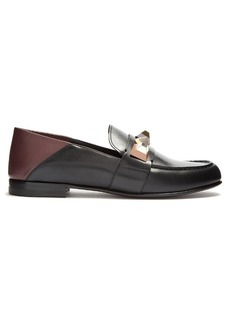 Fendi Studded leather loafer