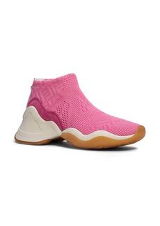 Fendi Technice Knit Mid Top Sneaker (Women)