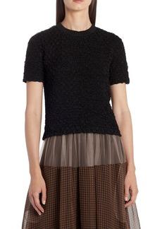 Fendi Textured Short Sleeve Sweater