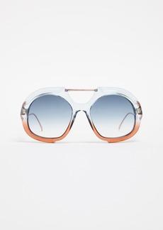Fendi Thick Aviator Sunglasses