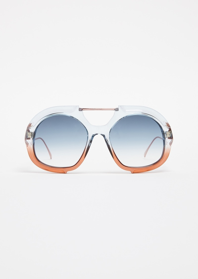 8328b1d8b6 Fendi Fendi Thick Aviator Sunglasses