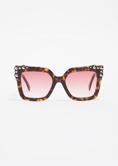 Fendi Thick Frame Square Sunglasses