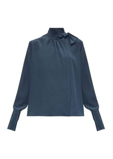 Fendi Tie-neck silk crepe de Chine blouse