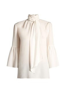 Fendi Tie-neck silk crepe de Chine blouse
