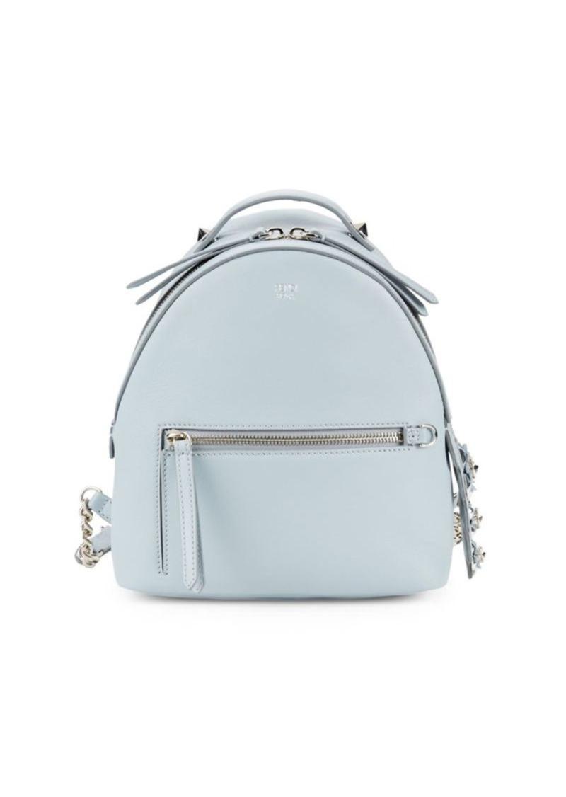 Fendi Top Zip Leather Backpack