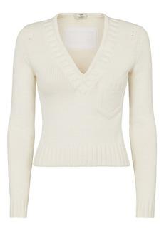 Fendi Trompe l'Oeil V-Neck Sweater