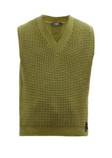 Fendi V-neck cashmere sleeveless sweater