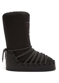 Fendi Velvet-logo snow boots