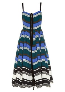 Fendi Wave zip-through midi dress