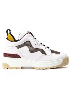 Fendi White Chunky Leather Sneaker