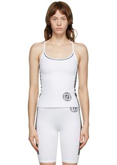 Fendi White Fendirama Fitness Top