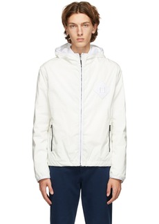 Fendi White Rain 'Forever Fendi' Effect Jacket