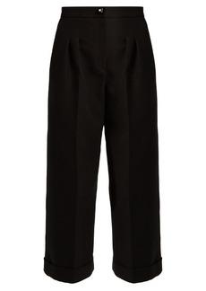 Fendi Wide-leg cotton-crepe trousers