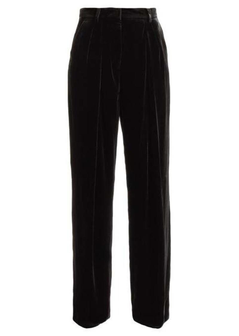 Fendi Wide-leg velvet trousers