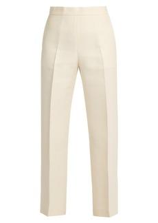 Fendi Wide-leg wool-blend cropped trousers