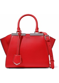 Fendi Woman 2jours Small Leather Shoulder Bag Red