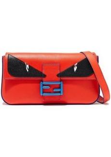 Fendi Woman Baguette Appliquéd Leather Shoulder Bag Red