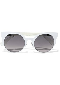 Fendi Woman Cat-eye Acetate Sunglasses White