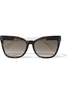 Fendi Woman Cat-eye Tortoiseshell Acetate Sunglasses Gray