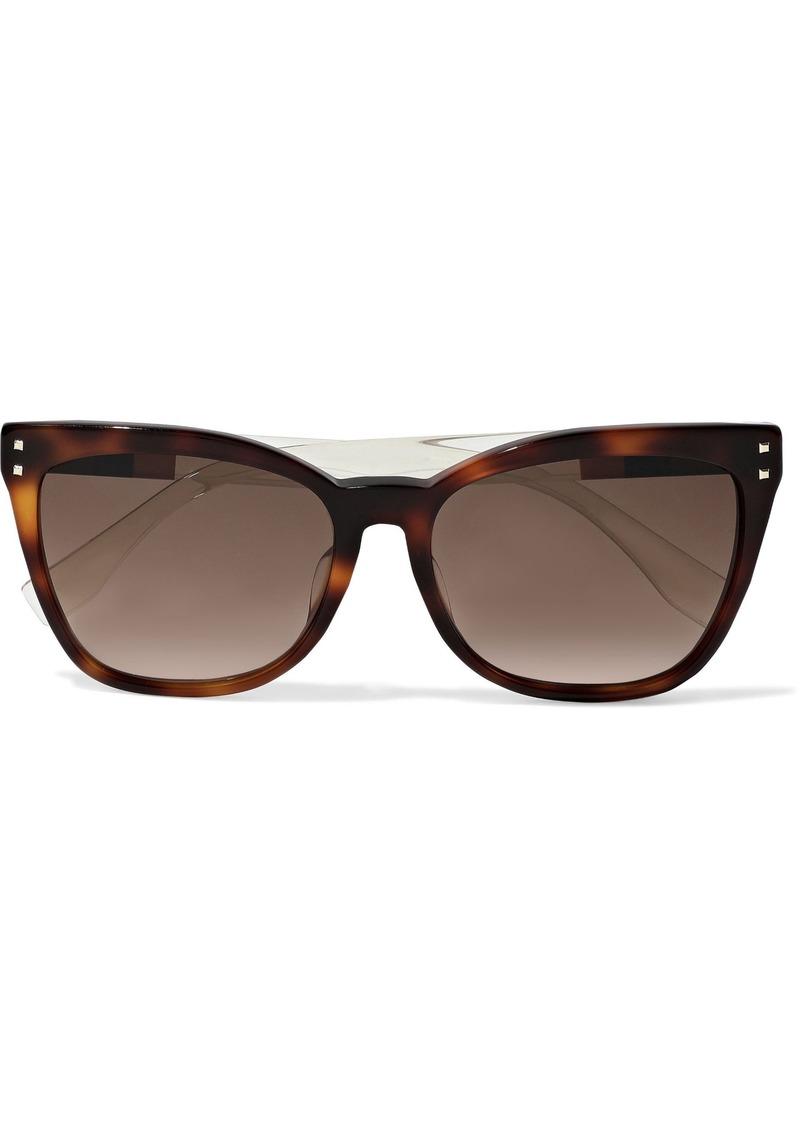 Fendi Woman Cat-eye Tortoiseshell Acetate Sunglasses Brown