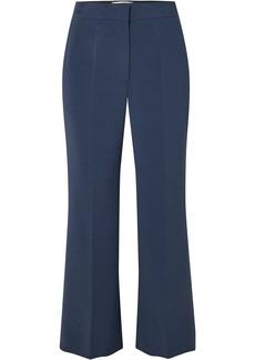 Fendi Woman Crepe Kick-flare Pants Navy