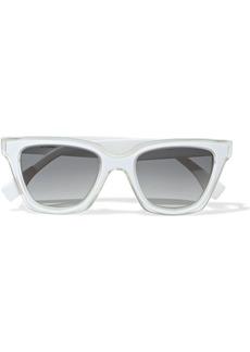 Fendi Woman D-frame Acetate Sunglasses White