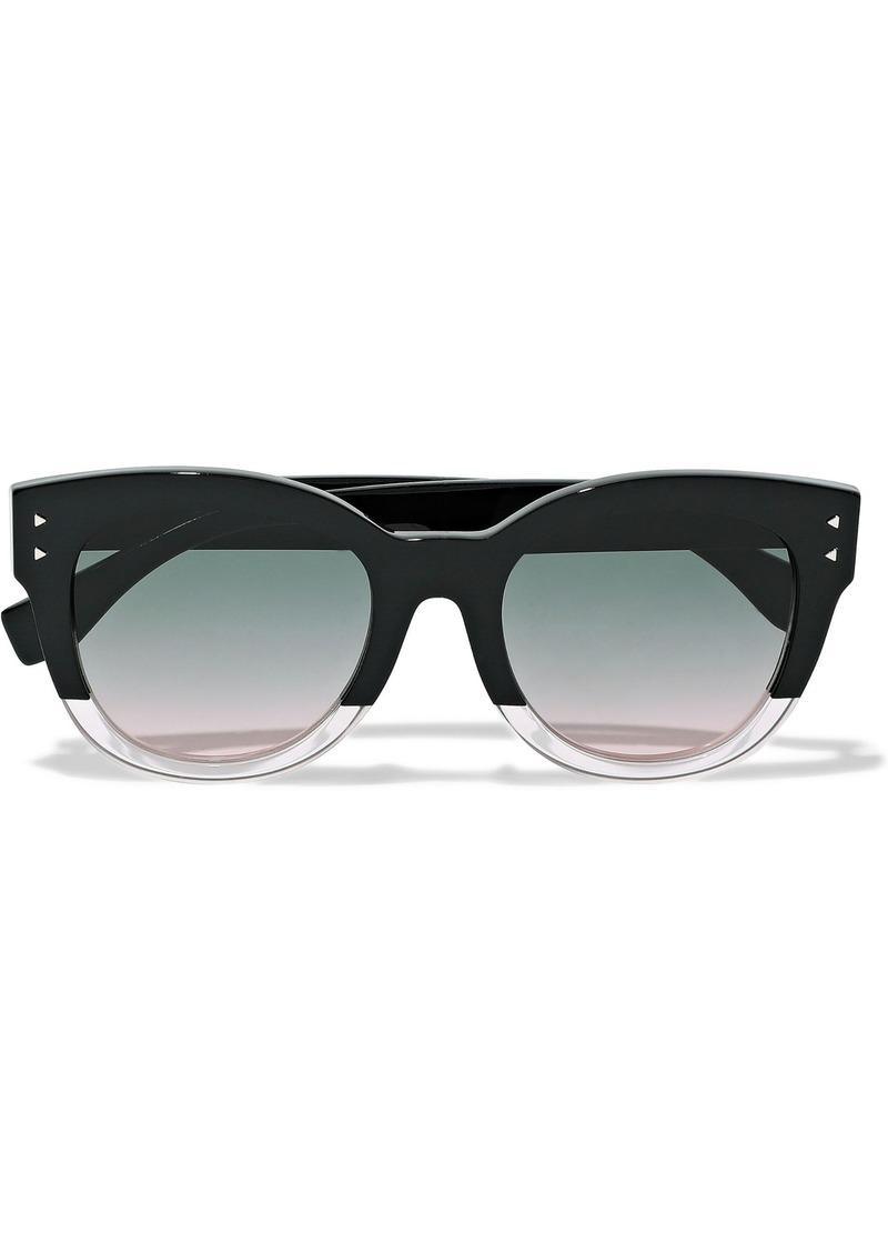 Fendi Woman D-frame Two-tone Acetate Sunglasses Black