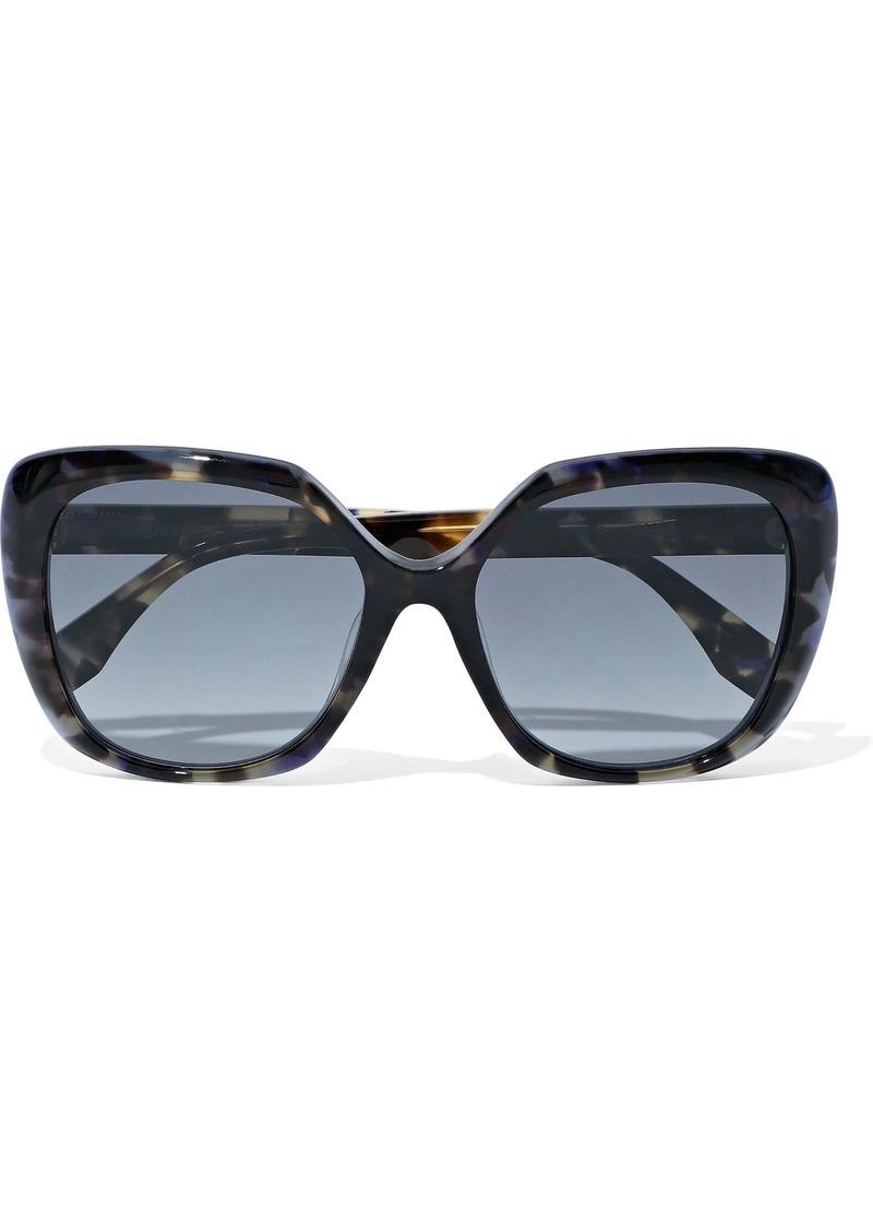 Fendi Woman Square-frame Tortoiseshell Acetate Sunglasses Blue