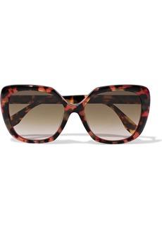 Fendi Woman Square-frame Tortoiseshell Acetate Sunglasses Brown