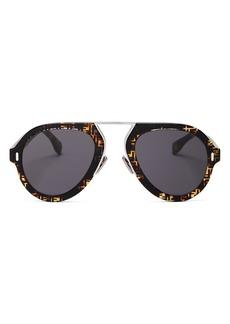 Fendi Women's Brow Bar Aviator Sunglasses, 53mm