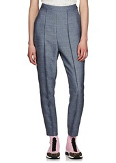 Fendi Women's Checked Wool-Blend Tapered Pants