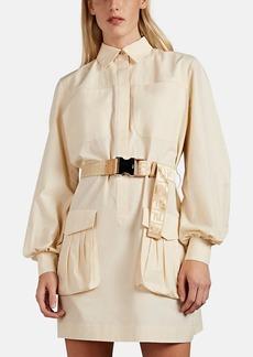 Fendi Women's Cotton Belted Utility Shirtdress