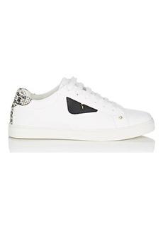 Fendi Women's Eye-Appliqué Leather Sneakers