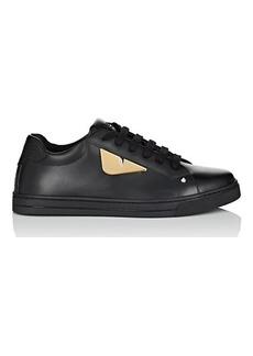 Fendi Women's Eye-Appliquéd Leather Sneakers
