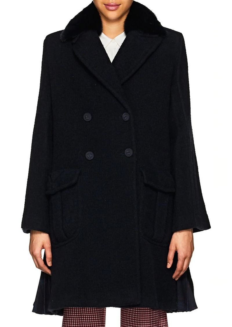 882f3bf0 Women's Fur-Collar Wool Bouclé Coat