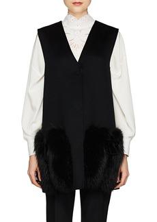Fendi Women's Fur-Trimmed Wool Vest
