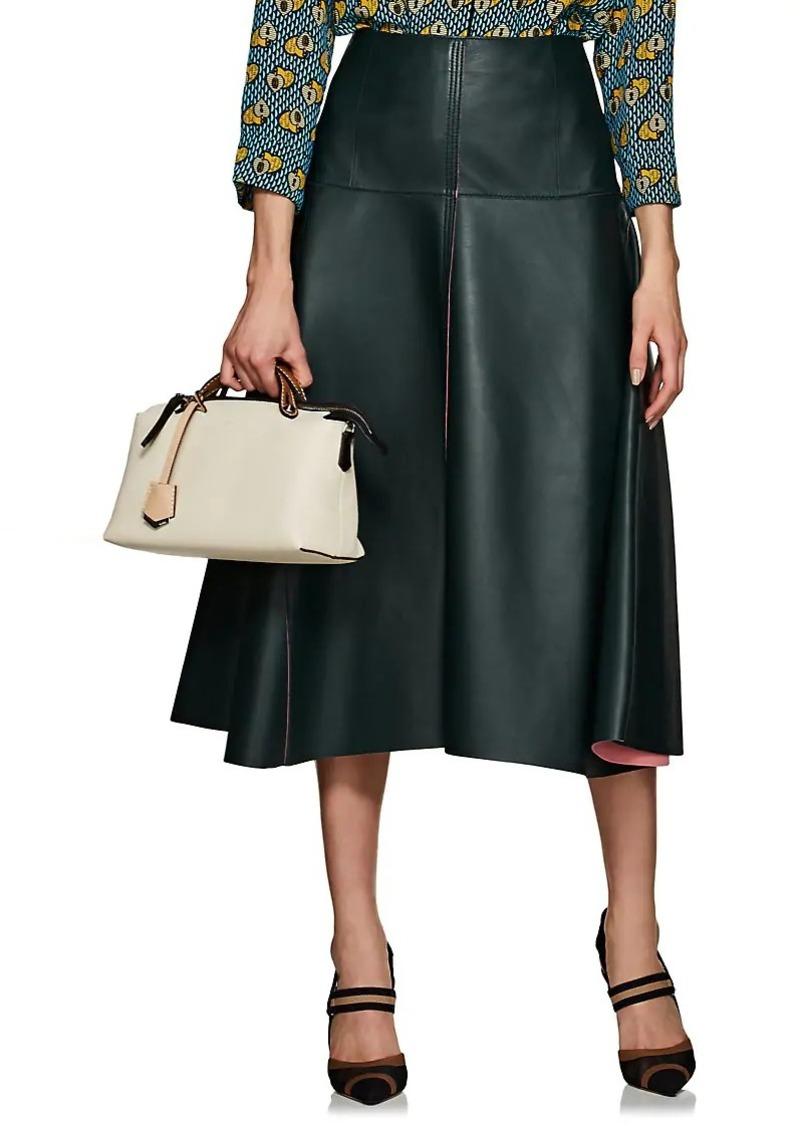 214cfe3f399a Fendi Fendi Women s Leather A-Line Midi-Skirt