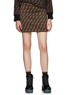 Fendi Women's Logo Cotton-Blend Miniskirt