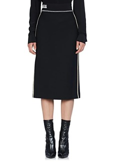 Fendi Women's Logo-Detailed Wool-Silk Pencil Skirt