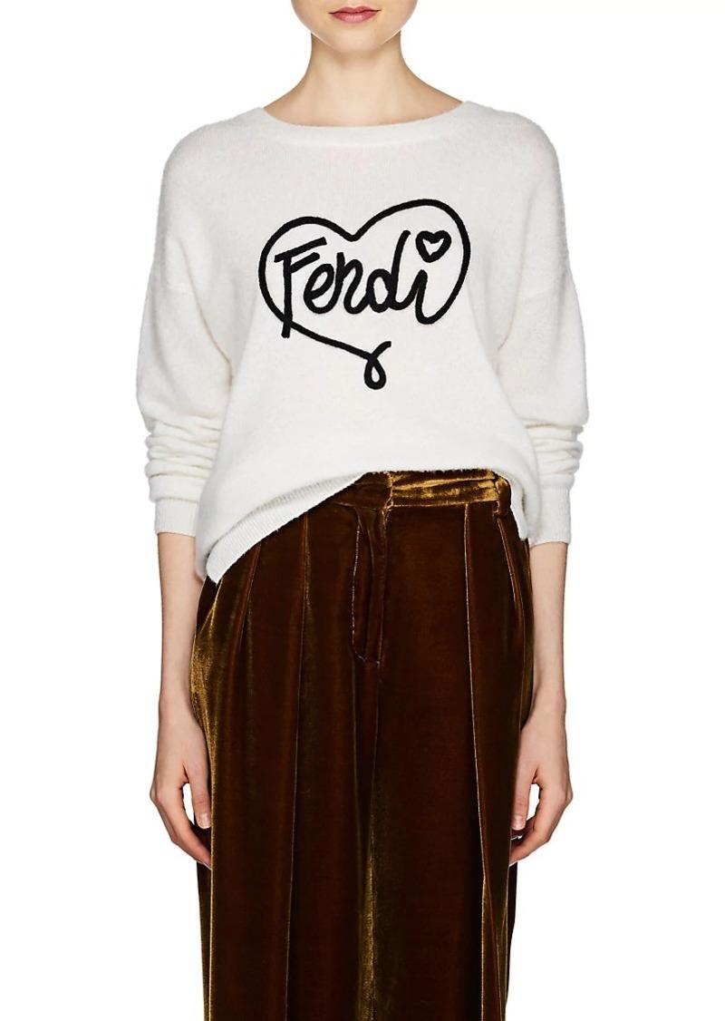 2e35d97d15 Fendi Fendi Women s Logo Fuzzy Knit Cashmere-Silk Sweater