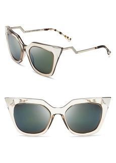 Fendi Women's Mirrored Geometric Sunglasses, 52mm